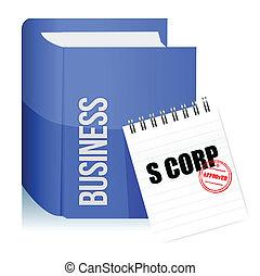 切手, 株式会社, 法的, s, 文書, 公認