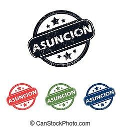 切手, 都市, asuncion, セット, ラウンド