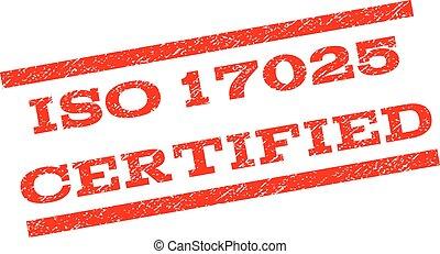 切手, 17025, iso, 証明される, watermark