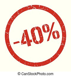 切手, 40%