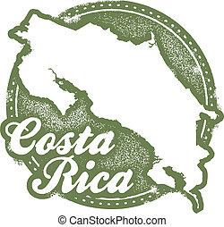 切手, costa, アメリカ, 中央である, rica