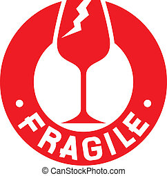 切手, symbol), 壊れやすい, (fragile