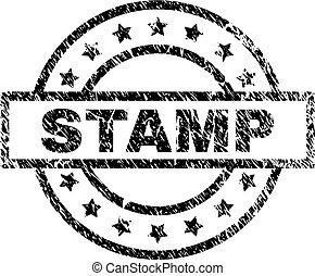 切手, textured, グランジ, シール