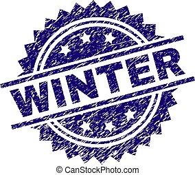 切手, textured, グランジ, 冬, シール