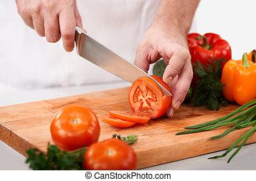 切断, トマト