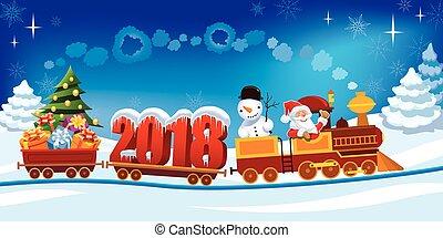 列車, クリスマス, 2018
