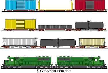 列車, 貨物