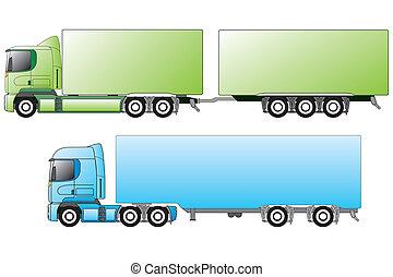 別, ヨーロッパ, トレーラー, トラック