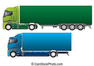 別, ヨーロッパ, 貨物, トラック