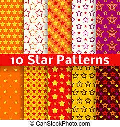 別, 星, seamless, パターン, ベクトル, (tiling).