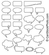 別, 漫画, web., 編集, コレクション, ∥あるいは∥, 形, 付け加えなさい, ベクトル, テキスト, 容易である, size., (どれ・何・誰)も, 空