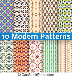 別, 現代, seamless, パターン, ベクトル, (tiling).