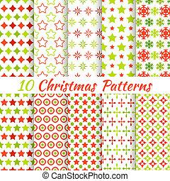 別, seamless, パターン, ベクトル, (tiling)., クリスマス