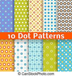 別, seamless, パターン, ベクトル, (tiling)., 点