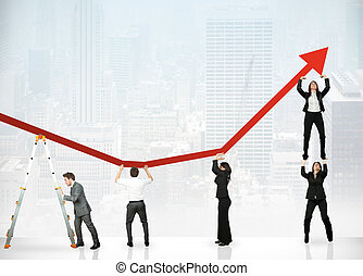 利益, チームワーク, 企業である