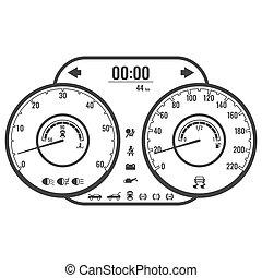 制御, スタイル, 単純である, ∥あるいは∥, 道具, デザイン, ダッシュボード, 帯状面, パネル