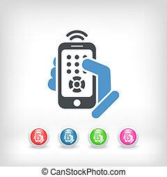 制御, smartphone, リモート, アイコン