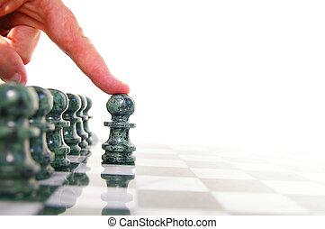 前方へ, 小片, 引っ越し, チェス 板