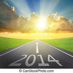 前方へ, 2014, 概念, 新年