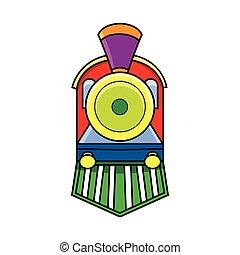 前部, 列車, 機関車, 光景