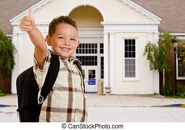 前部, 学校, 幸せ, 子供