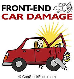 前部, 自動車, 端, 損害