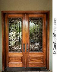 前部, elegantly, 設計された, ドア