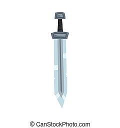 剣, viking, スカンジナビア人, ベクトル, はんだ, 鋼鉄, ケルト, 武器, イラスト, 古代