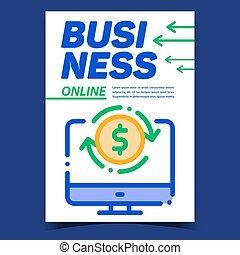 創造的, ビジネス, 旗, ベクトル, オンラインの広告