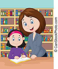 助力, 勉強しなさい, 生徒, 漫画, 教師