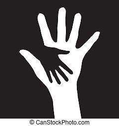 助力, hands.
