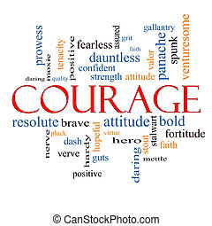 勇気, 概念, 単語, 雲