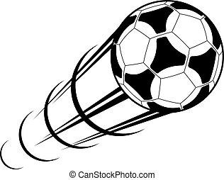 動き痕跡, サッカーボール, スピード違反