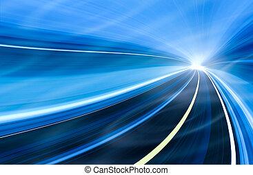動き, スピード, イラスト, 抽象的