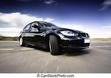 動き, 自動車, 黒