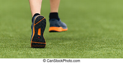 動くこと, スポーツ, 子供, 靴, 細部