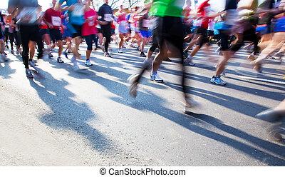 動くこと, マラソン, 速い