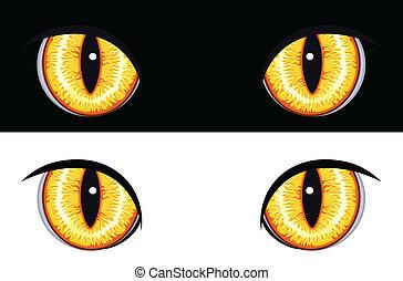 動物, 目, 悪