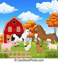 動物, 農場, 農業, 背景