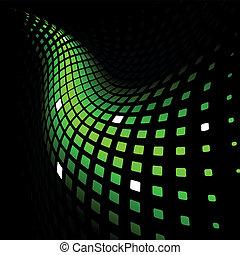 動的, 抽象的, 緑の背景