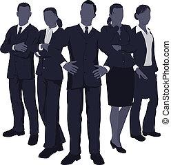 動的, 若い, ビジネス チーム