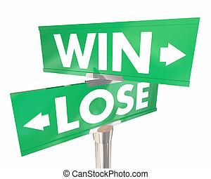 勝利, 失いなさい, ∥対∥, 2, イラスト, 通り, 方法, サイン, 2, 道, 3d