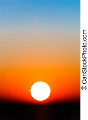 勾配, 太陽, 抽象的, 空, 日没