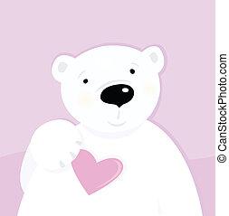 北極, 愛, 熊, 心