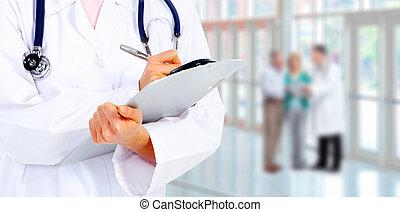 医学, 医者。, 手