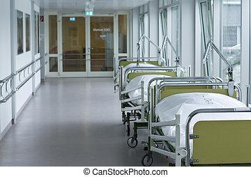 医学, 病院廊下, 部屋