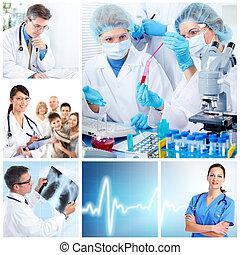 医学, laboratory., 医者, collage.