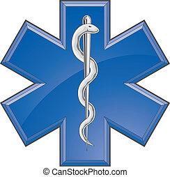 医療補助員, 医学, 救出, ロゴ