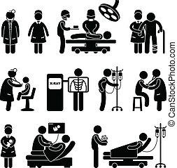 医者, 外科 看護婦, 病院