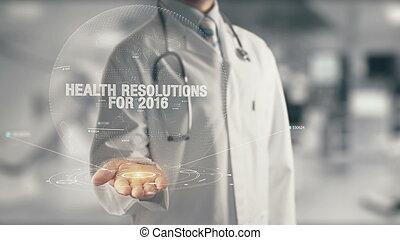 医者, 手, 健康, 保有物, resolutions, 2016